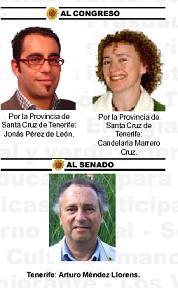 LOS VERDES DE TENERIFE PIDE EL VOTO PARA PARAR EL PUERTO DE GRANADILLA Y EL ANILLO INSULAR
